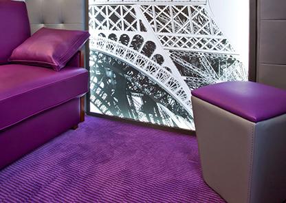 Advice choose Hotel lounge colour purple