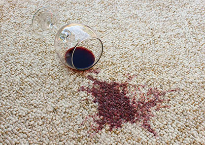 Advice clean home stain wine carpet