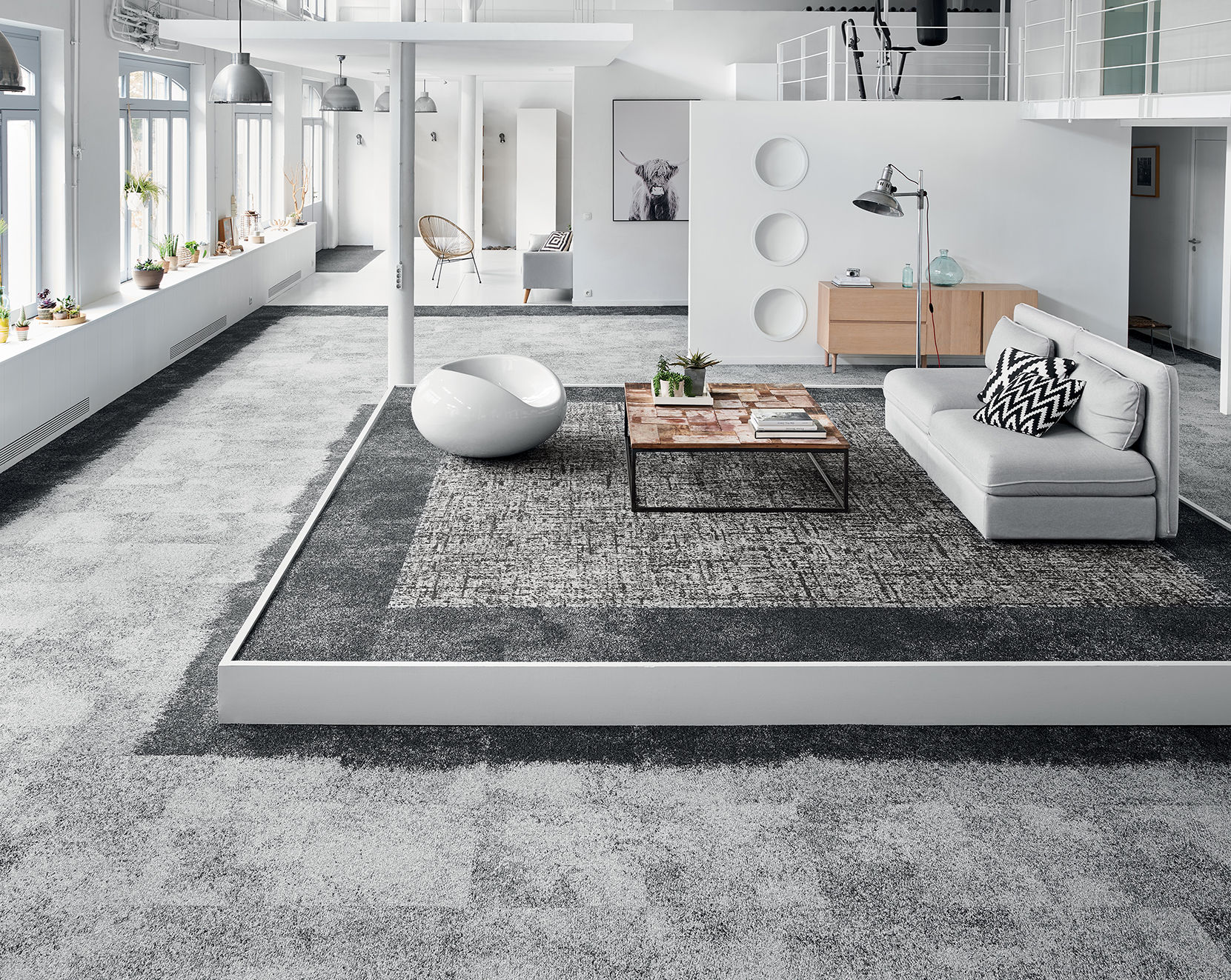 Nexus Concept Carpet Tiles Developed With Mbrodery Tuft Technology Balsan