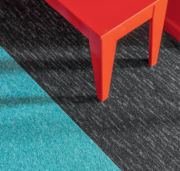 Collection pilote 3D dalle de moquette rain detail bleu gris
