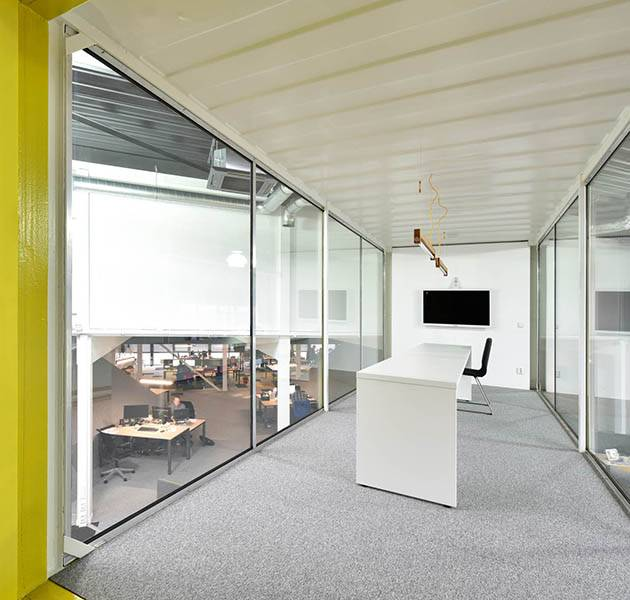 Inspiration Grande Reference Office Origami Season Winter interieur bureau conteneur