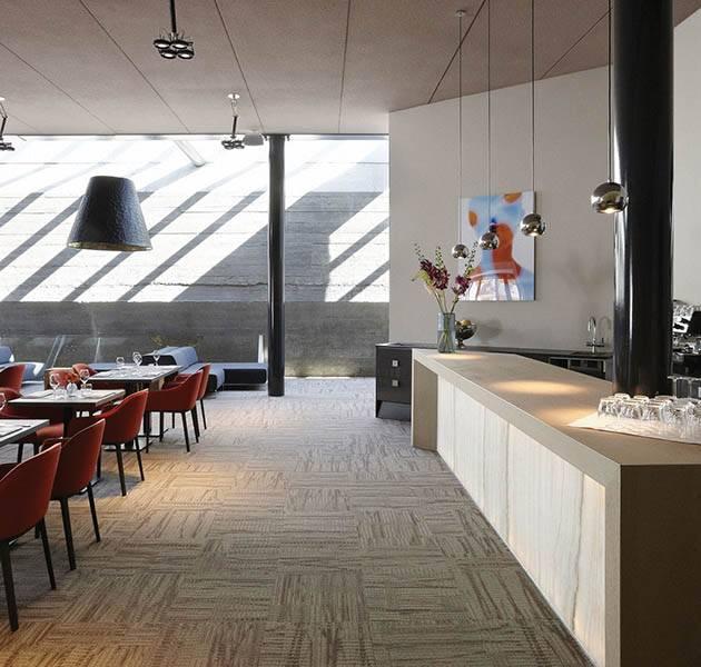 Inspiration Grande Reference hotel dalles Infini design restaurant puit de lumière