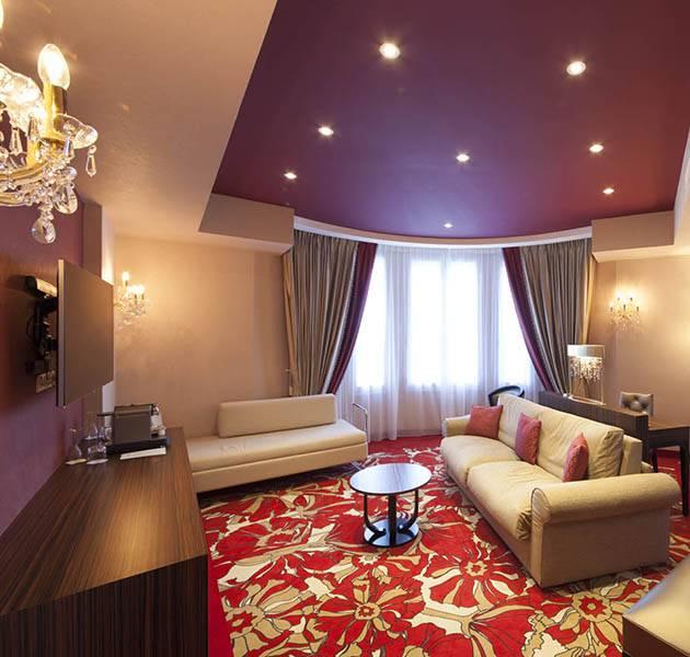 Inspiration Grande Reference hotel dalles bolero personnalisation le chambre salon moquette rouge