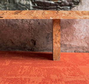 Infini colors collection carpet tile Rock orange