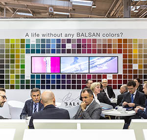 Values balsan company lounge wall of colours