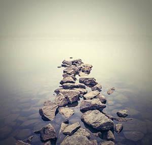 Inspiration sky earth decor stone path