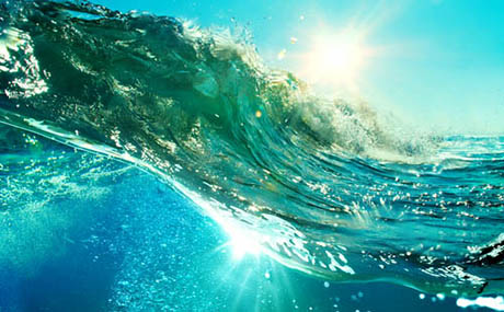 Inspiration decor ocean underwater waves